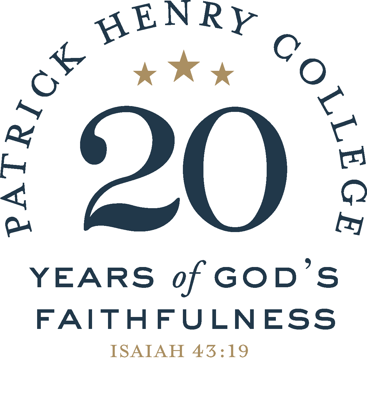 20th Anniv. Logo, Blue Gold, reference only